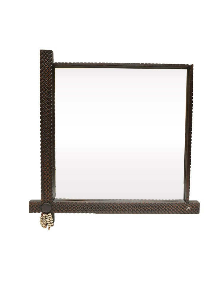 Solyana Collection Hand Braided Leather Mirror
