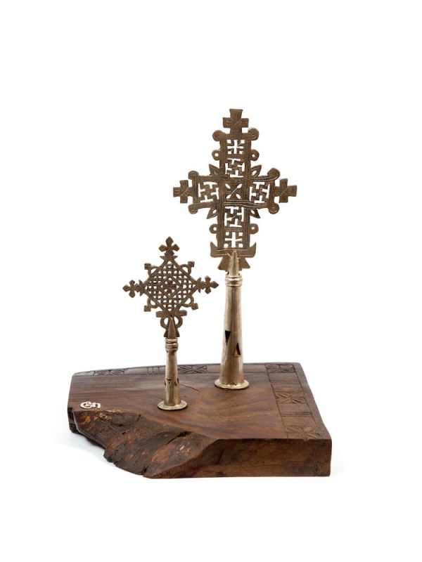 Contemporary Ethiopian Tigray and Gonder Processional Crosses