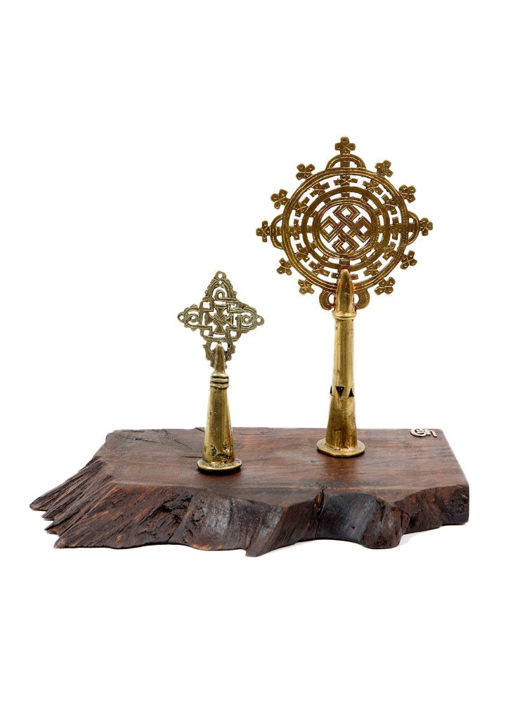 Contemporary Ethiopian Lalibela and Gondor Processional Crosses
